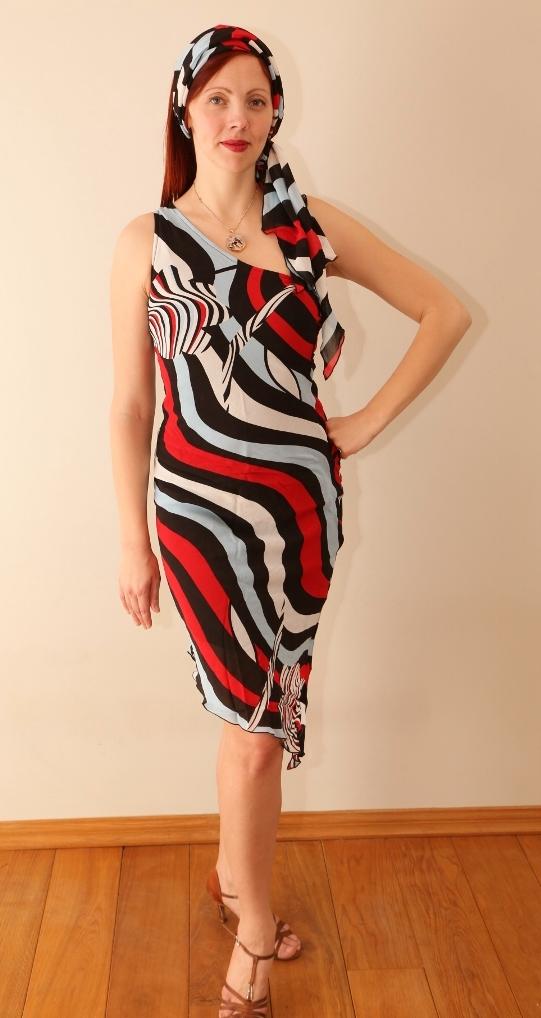 70ndate triibuline kleit